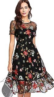 ruffle overlay dress