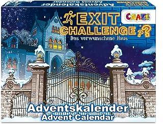 CRAZE Kalendarz adwentowy EXIT CHALLENGE Escape Game kalendarz bożonarodzeniowy 2021 dla dziewcząt, chłopców, zabawek, kal...