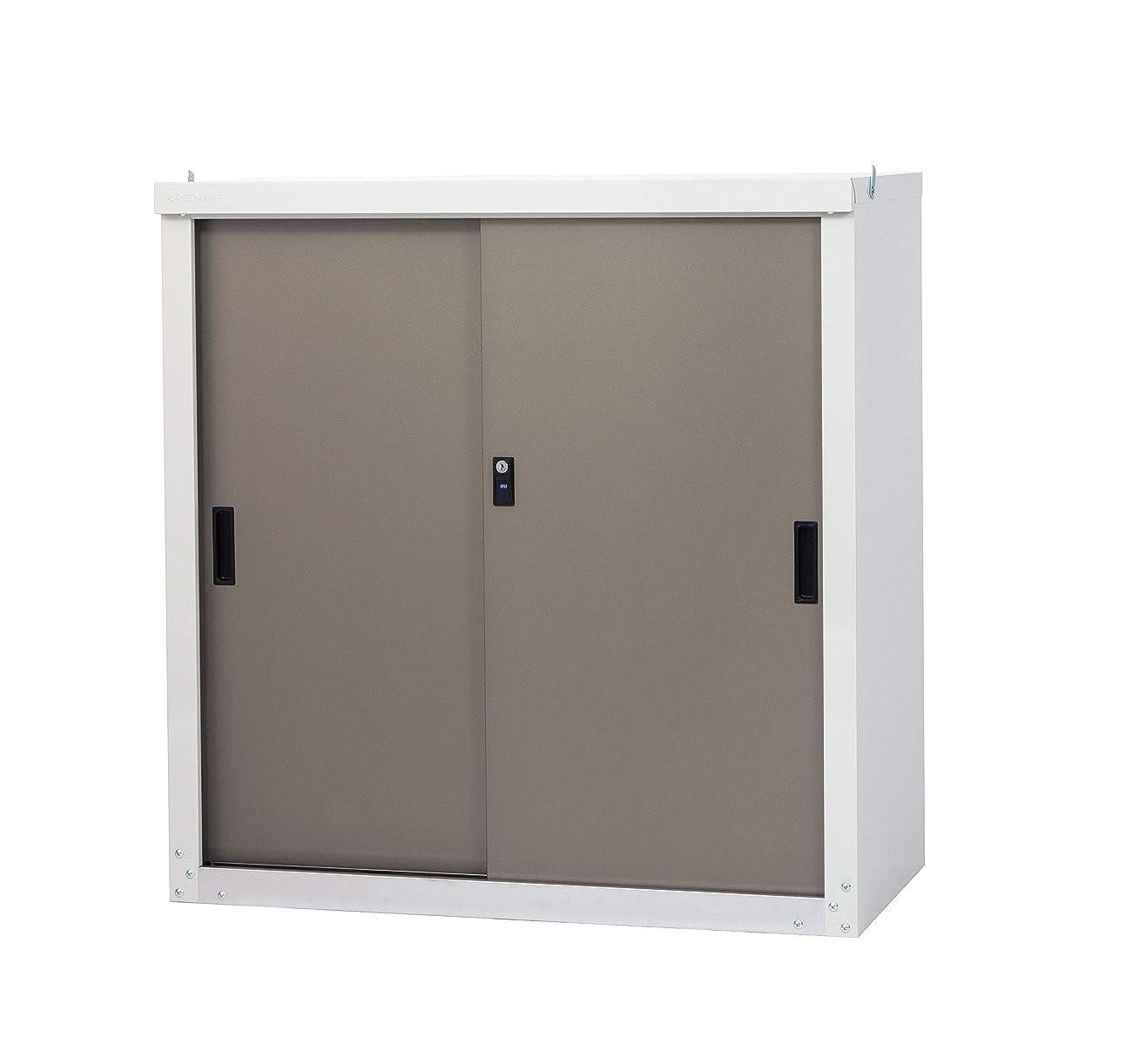 フック散るに向けて出発グリーンライフ(GREEN LIFE) 家庭用小型収納庫 簡単組立 スチール製で頑丈な収納庫 HS-92SRE(TGY)