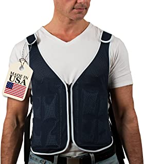 NHI Cooling Vest - Our Cool Vest Offers Max Ventilation - 4 Extra Cool Packs Included - Adjustable, Size S - XXL