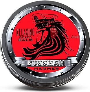 Bossman Relaxing Beard Balm - Nourish, Thicken and Strengthen Your Beard (Hammer)