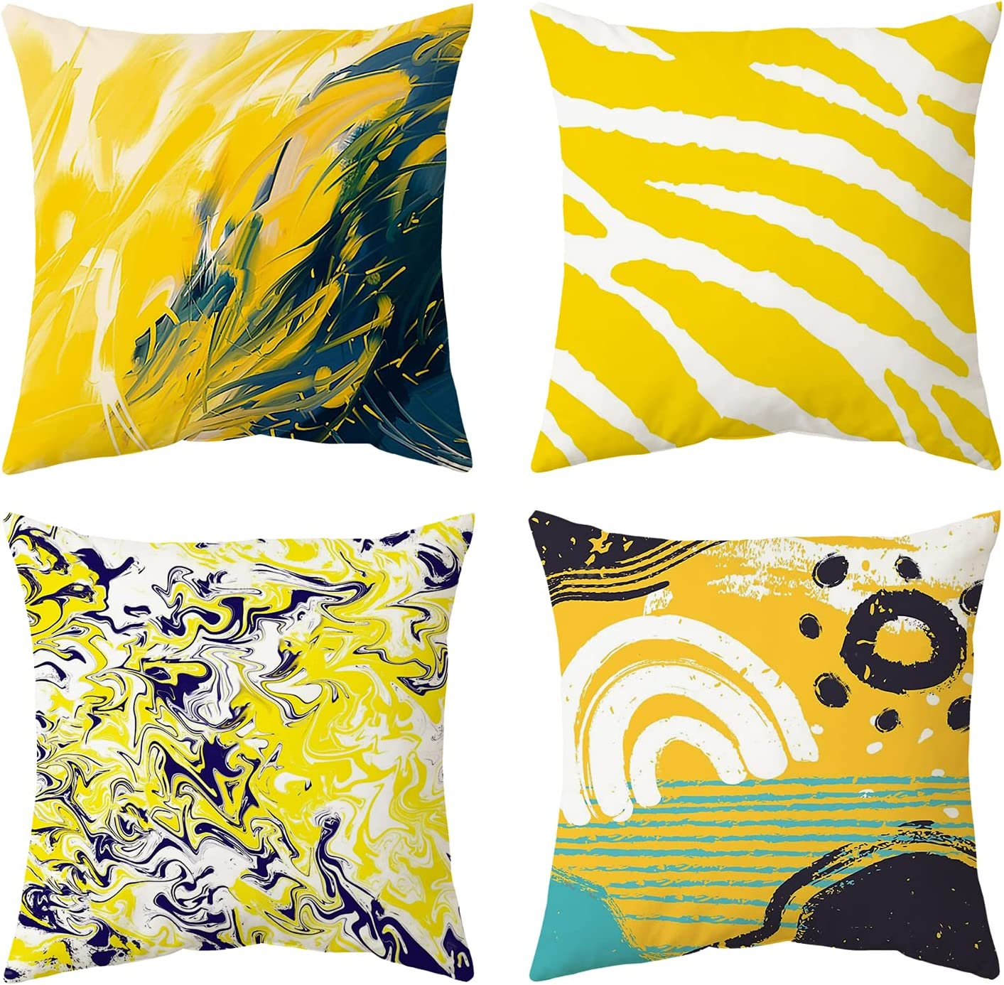 CYSNATU Throw Pillow Covers 18x18 4 Yellow Set Manufacturer direct delivery of Cover NEW