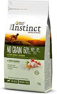 True Instinct No Grain - Nature's Variety - Pienso sin Cereales para Perro Adult Medium-Maxi con Pollo - 2kg