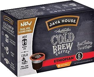 Java House Cold Brew Coffee, Ethiopian, Light Roast, 6 Liquid Pods (Pack of 2)