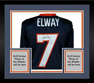Framed John Elway Denver Broncos Autographed Blue Mitchell & Ness 1997 Throwback Authentic Jersey - Fanatics Authentic Certified