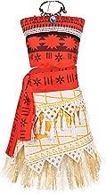 JerrisApparel Princess Moana Costume Skirt Set Little Girls Cosplay Dress Up