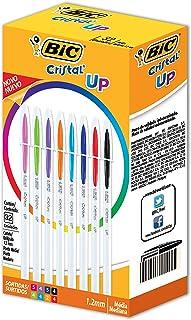 Caneta Cristal UP BIC, Multicolor, pacote de 32