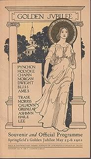 Springfield Massachusetts Golden Jubilee Souvenir Programme 1902