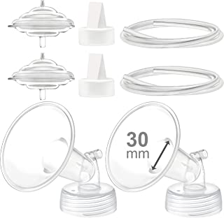Maymom Pump Parts Compatible with Spectra S2 Spectra S1 Spectra 9 Plus Breastpump, Flange (30mm) Valve Tubing Backflow Protector, Not Original Spectra Pump Parts Not Original Spectra S2 Accessories