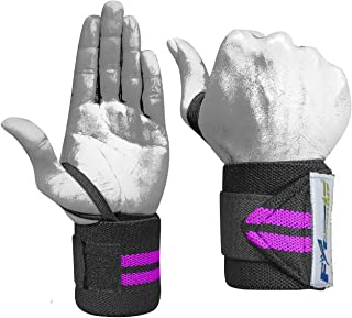 FitGenius Wrist Wraps Professional Thumb Loops - Wrist Support Braces Men & Women - Weight Lifting, Bodybuilding, Powerlifting, Strength Training