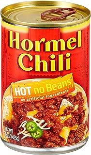 Hormel Chili Hot No Beans, 15 Ounce