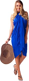 1 World Sarongs Womens Embroidered Swimsuit Sarongs in Your Choice of Color