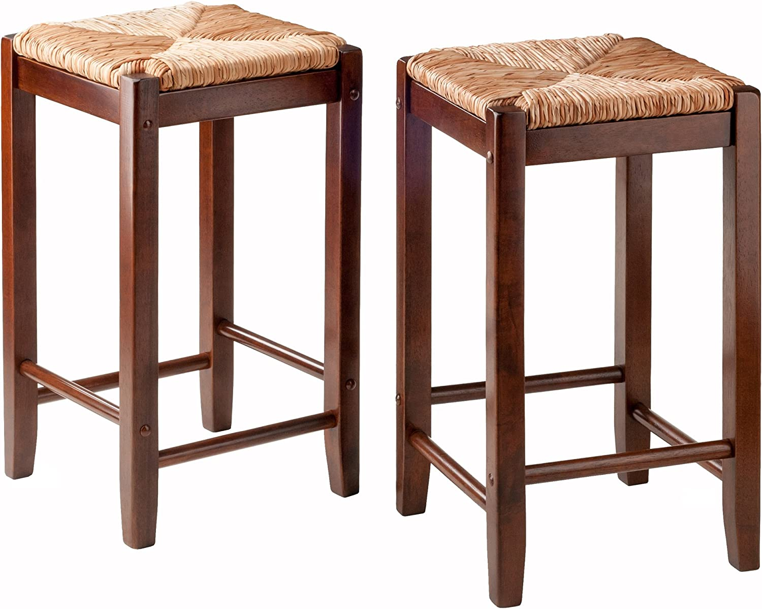 Winsome Wood Kaden 2-PC Set Counter Stools Rush Seat