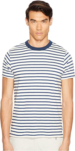 Short Sleeve Striped Shore Crew Sweatshirt