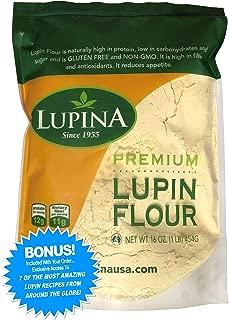 Keto Friendly, GF, High protein, Fiber-Rich LUPIN FLOUR 16 oz. w/ 7 BONUS Recipes