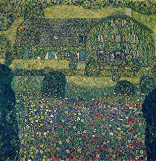 Country House on Attersee Lake, Upper Austria, 1914 by Gustav Klimt Art Print, 20 x 21 inches