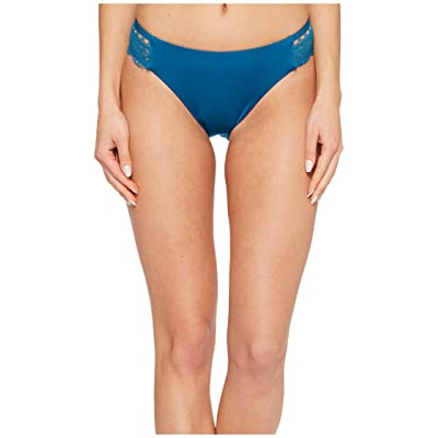 Laundry by Shelli Segal Scallop Lace Hipster Bikini Bottom (Deep Teal) Women
