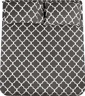 Utopia Bedding - Juego Sábanas de Cama - Microfibra Cepillada - Sábanas y 2 Fundas de Almohada - (Cama 150, Gris)