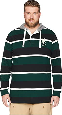 Big & Tall Rugby Jersey Pullover T-Shirt