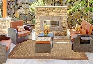 Brown Jordan Prime Label Outdoor Furniture Rug 8x10 Furman Collection Sisal Woven Modern Patio Rugs, Lt. Brown