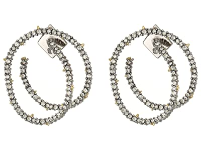 Alexis Bittar Crystal Encrusted Coil Link Post Earrings (Gold) Earring