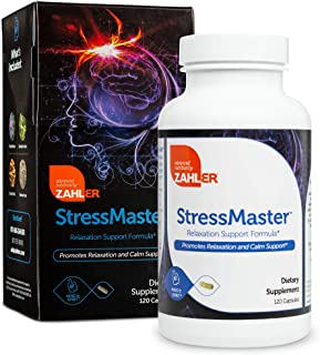 Zahlers StressMaster, Stress Relief Relaxation Supplement, Anxiety Relief, Promotes Natural Calm, Certified Kosher 120 Cap...