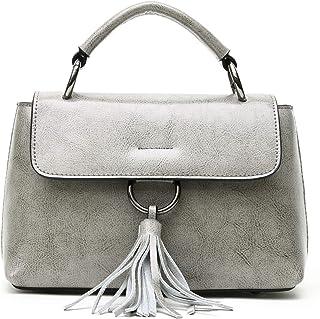 RU Damentaschen Damen Handtasche Ledertaschen Quaste Ring Umhängetasche Umhängetasche