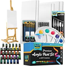 Complete Acrylic Paint Kit- 54 Piece Keff Creations Professional Artist Painting Supplies Set, Art Painting, 24 Acrylic Pa...