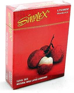 واقي ذكري برائحة الليتشي من سيمبلكس - 3 قطع