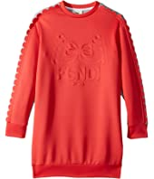 Fendi Kids - Long Sleeve Dress w/ Logo Design on Front (Little Kids)