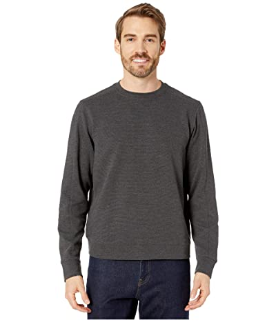 Perry Ellis Ottoman Rib Knit Long Sleeve Shirt (Charcoal Heather) Men