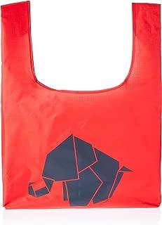 Trifine Unisex Trifine Reusable Shopper Totes, Elephant Red, One Size