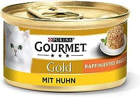 Purina Gourmet 12296238 Mokra Karma z Kurczakiem dla Kotów, 12 x 85 g