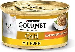 Purina Gourmet Gold Geraffineerde Ragout, Heerlijke Kattenvoeding, Fijne Stukjes, 12 Stuks (12 X 85g Doos)