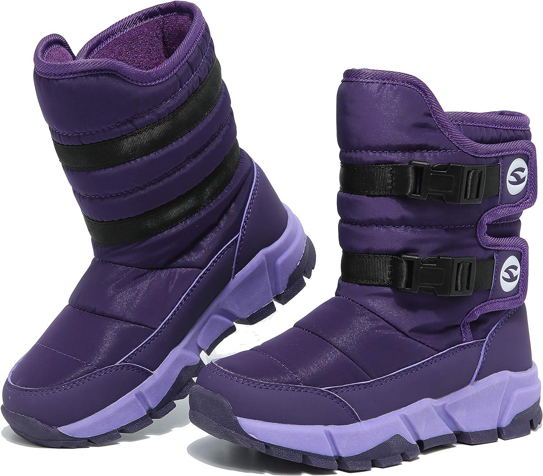 FEIKENIU Women Snow Boots Winter Warm Ankle shoes Mid Calf Waterproof Walking Slip On Lightweight