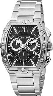 ROBERTO CAVALLI Men's RC 101 Quartz Watch with Stainless Steel Strap, Silver, 32 (Model: RV1G082M0096)