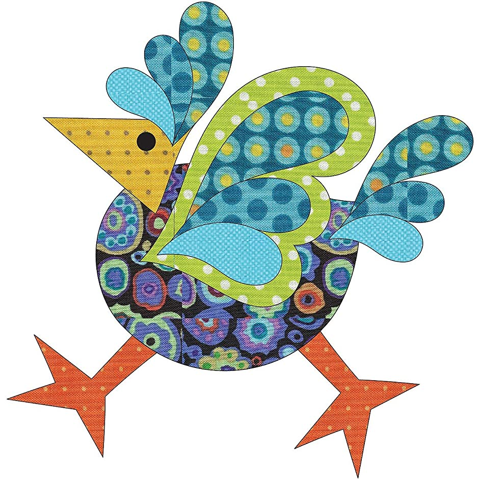 Quilting Creations Laser Cut Fusible Funky Chicken 3 Large Dotz with Background Applique