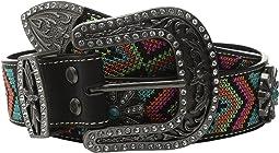 M&F Western - Aztec Embroidered Spiral Wheel Concho Belt