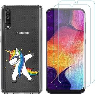 b75383ef2f5 Funda Samsung Galaxy A50 Unicornio de Pelo Largo Suave TPU Silicona  Protector Trasero Carcasa para Samsung