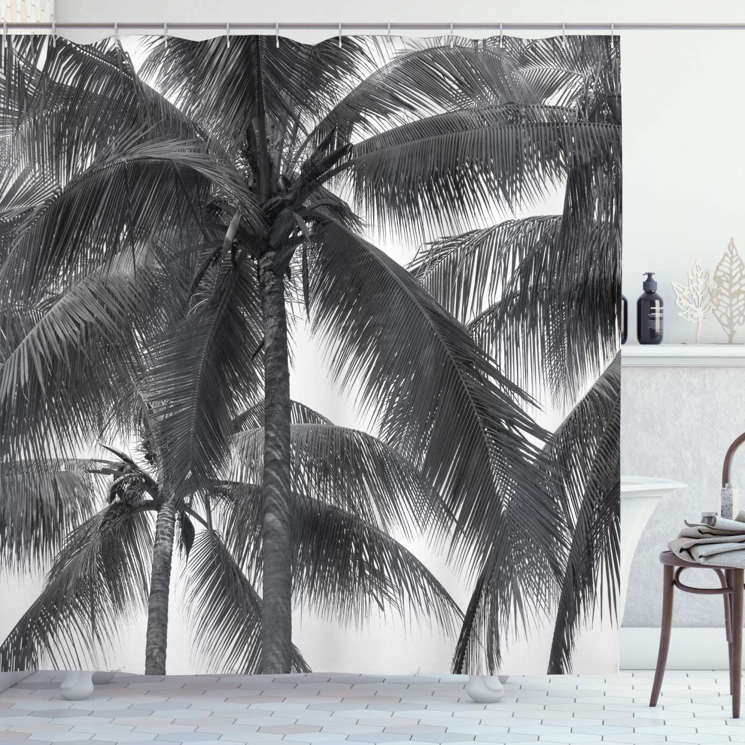 Ambesonne Palm Tree mart Shower Curtain Silhouette Exotic A surprise price is realized