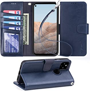【Amazon限定ブランド】Pixel5A 5G ケース 手帳型 - Google Pixel 5A 5Gケース スマホケース 折り畳み式 全面保護 耐衝撃【横置き機能 ストラップ付き カードポケット付き】財布型 ケース カバー Arae