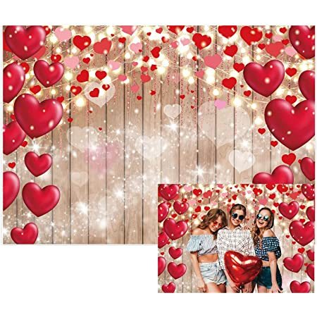 Vintage 6x8 FT Photo Backdrops,Love Valentines Day Inspired Hearts in Captivity Retro Dresses and Cat Background for Kid Baby Boy Girl Artistic Portrait Photo Shoot Studio Props Video Drape Vinyl