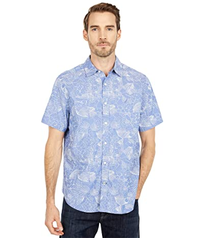 Nautica Oxford Print Sportshirt (Blue) Men
