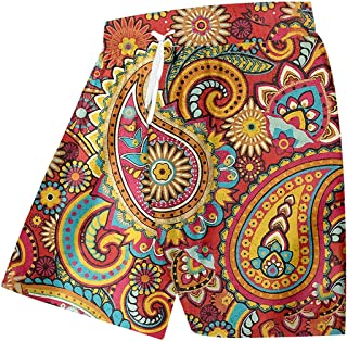 Renost Plus Size Men's Swim Trunks Quick Dry Hawaiian Boardshorts Men 3d Print Fitness Shorts