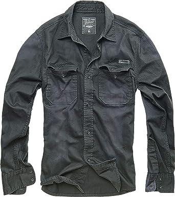 Brandit Hardee Camisa Denim Camiseta Hombre Camisa Vaquera