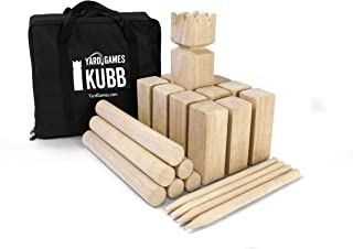Yard Games Kubb Premium Size Outdoor Tossing Game with Carrying Case, Instructions, and Boundary Markers