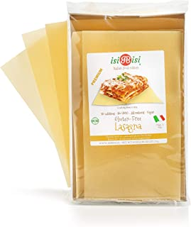 isiBisi Lasagne Gluten Free Pasta - Rice and Corn Flour - Made in Italy (9 oz - Single Pack)