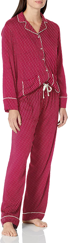 Splendid Women's Notch Collar Long Sleeve Pajama Set