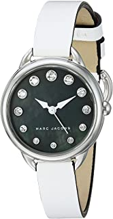 Marc by Marc Jacobs MJ1512 Contrast Dial Round Leather Analog Watch for Women - White