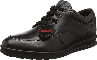 Kickers Boys' Troiko Black Leather Derbys